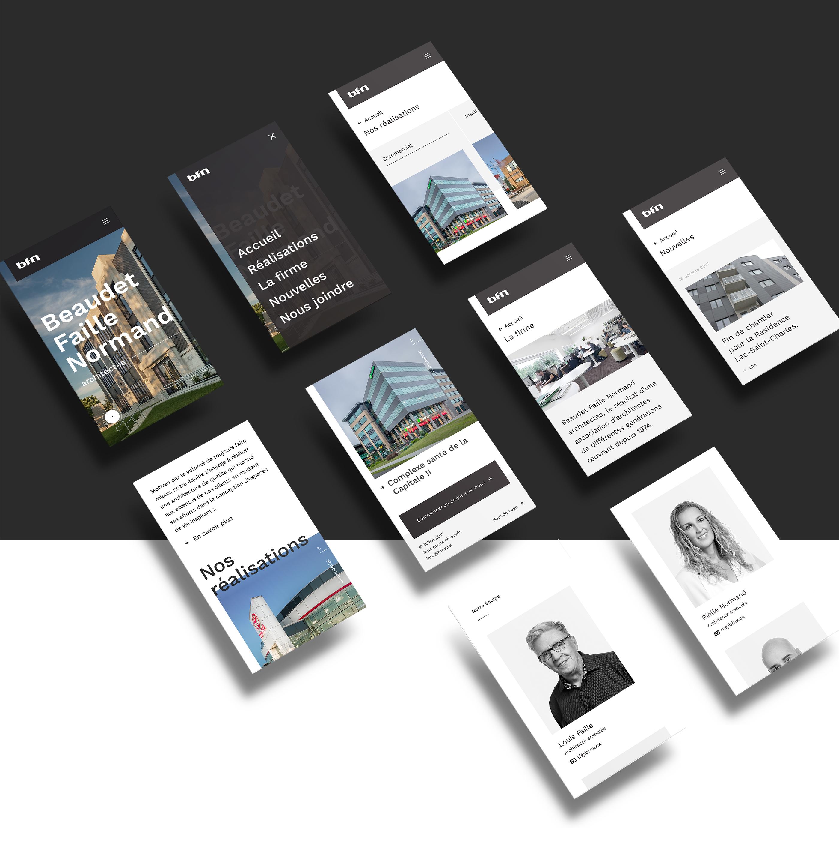 Image du site internet version mobile de bfna