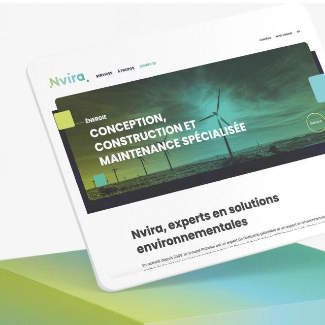 Pour Nvira, notre mandat a été de planifier, de concevoir et de déployer la nouvelle marque, et ensuite de développer tous les outils de communication qui en découlent.
