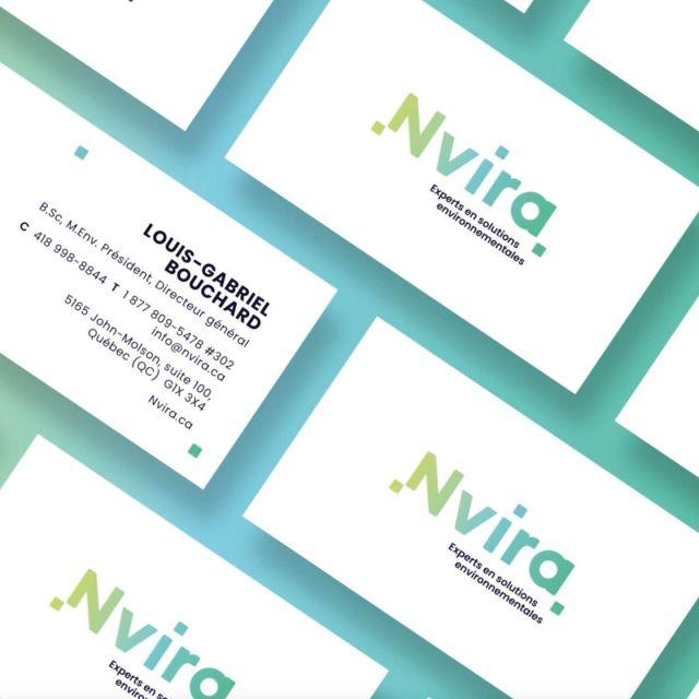 Nvira, inspiré de « enviro », suggère le mot environnement et met de l'avant le domaine d'activité dans lequel œuvrent toutes les entités qui composent l'entreprise.